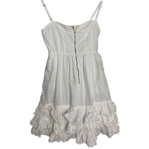 Tracy Feith white floral ruffle summer dress